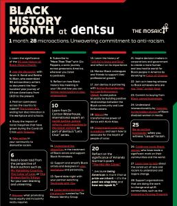 Dentsu Black History Month Actionable Calendar