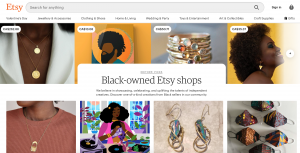 Etsy Black independent creatives and shop owners