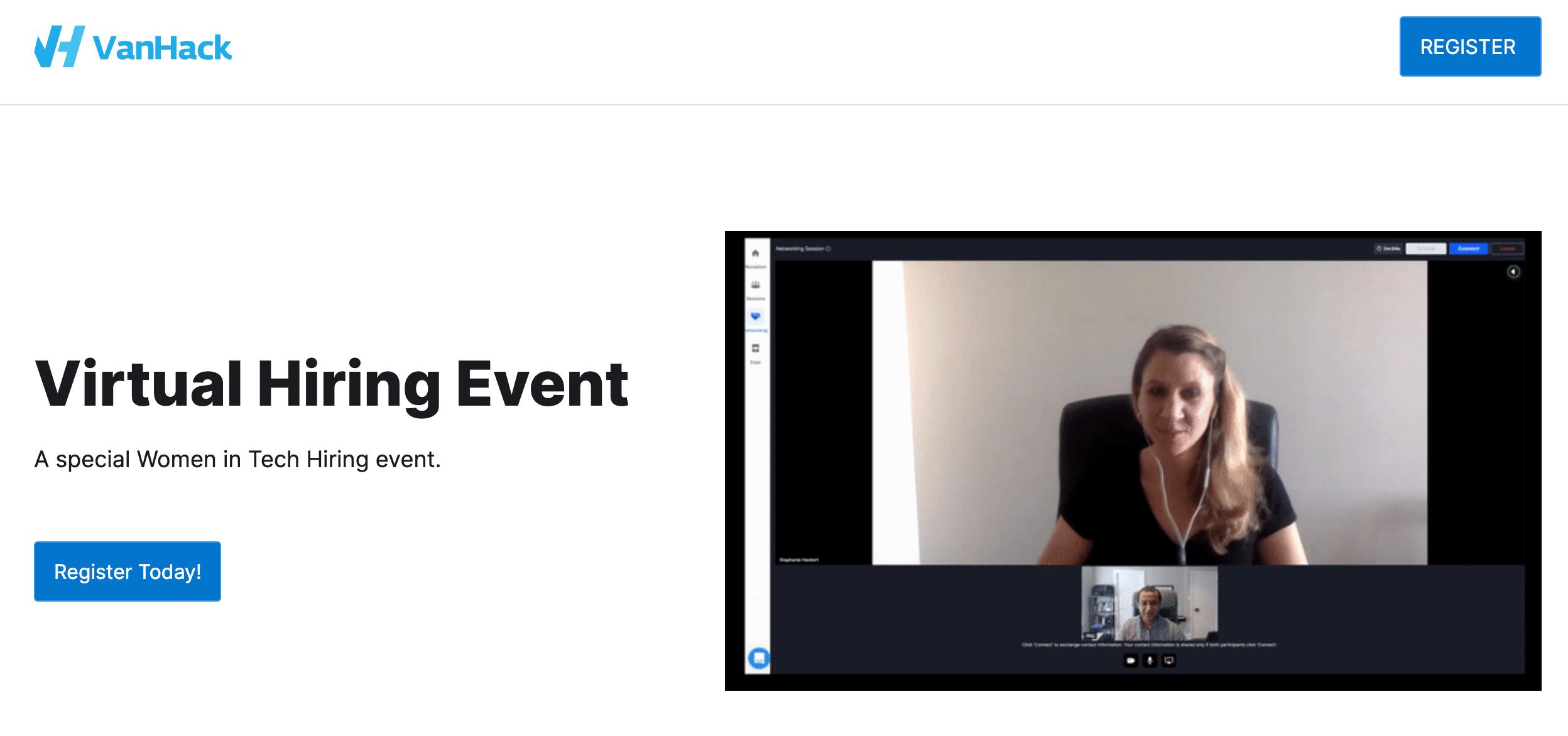 VanHack: Virtual hiring event