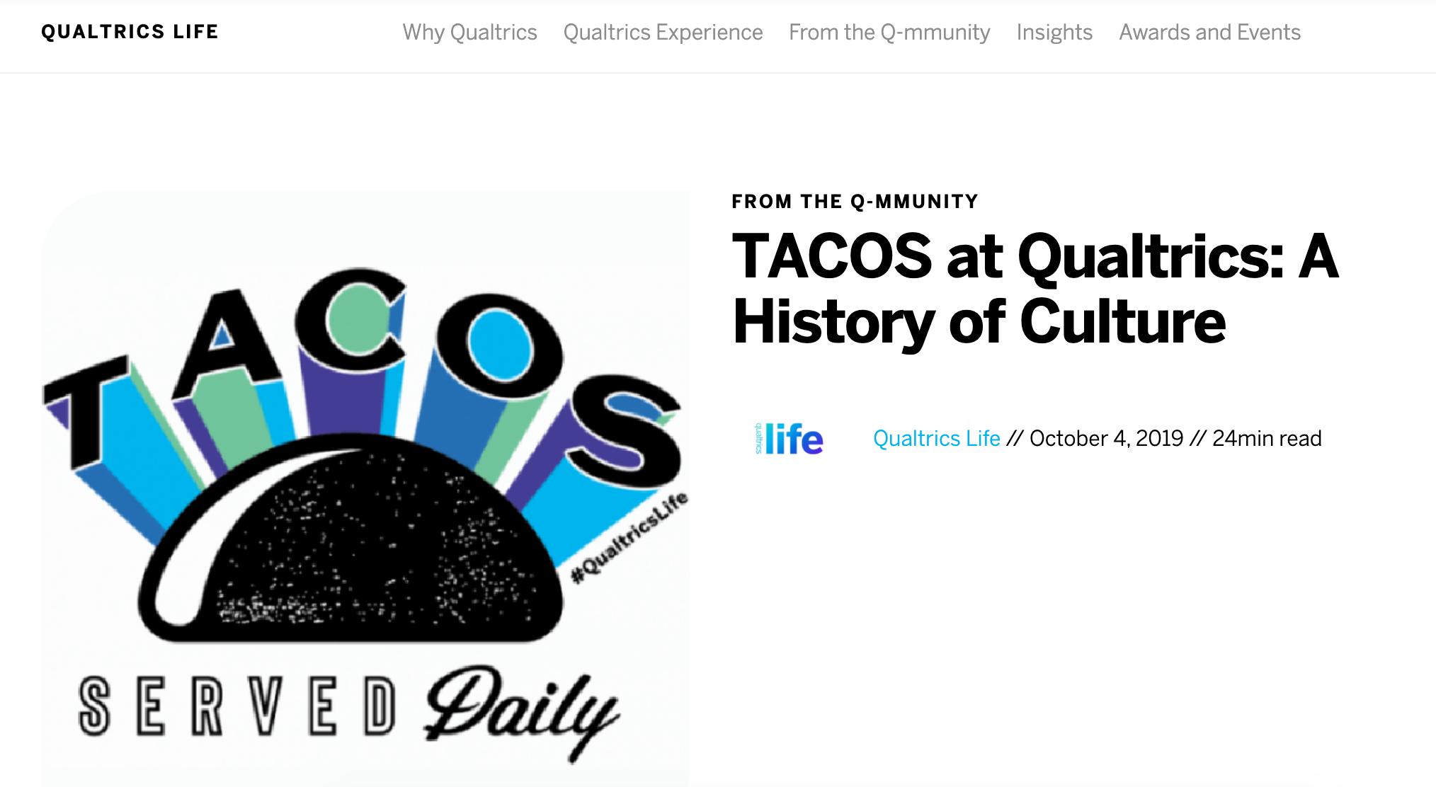 Qualtrics TACOS blog post