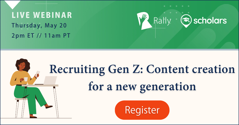Live Webinar: Recruiting Gen Z: Content creation for a new generation