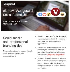 The Social Round Up using #LifeAtVanguard