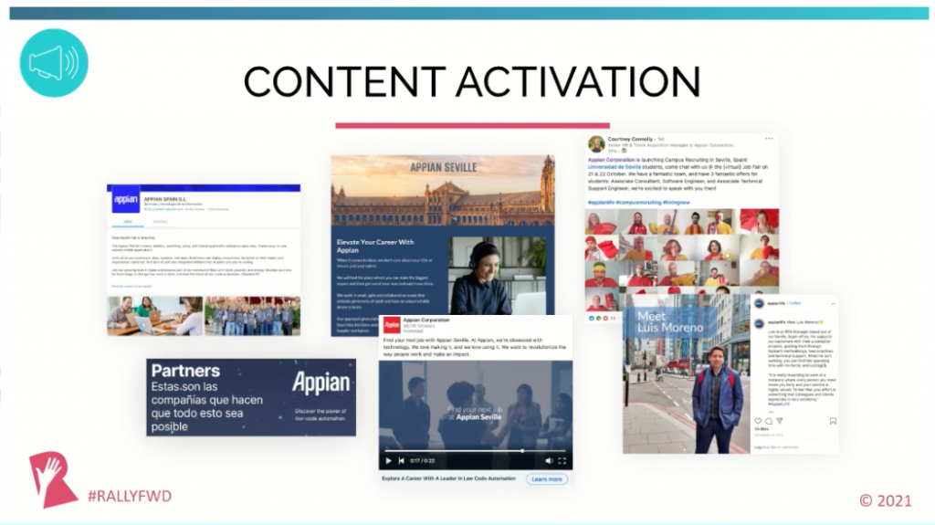 content specifically tailored to what your candidate audience is interested in