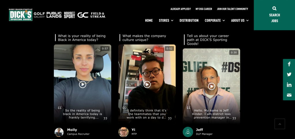 DICK'S Sporting Goods leverages videos for employee generated content