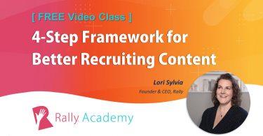 [Free video class] 4-Step Framework for Better Recruiting Content