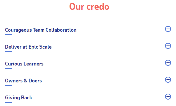 ADP's Credo for their new employer brand
